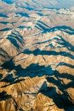 Bergområde, flyg- sikt arkivbild