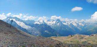 Bergområdet av Dombay Fotografering för Bildbyråer