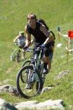 Bergopwaartse fiets Stock Foto
