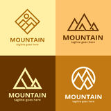 Bergpacke Logo Template Design Vector Stock Illustrationer