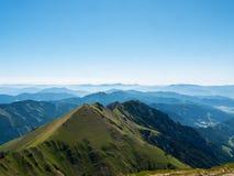 Bergpanorama, Österrike Royaltyfria Bilder
