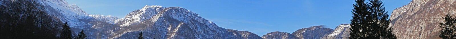 bergpanorama Royaltyfri Fotografi