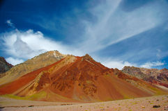 Bergpanorama in de Andes Royalty-vrije Stock Foto's