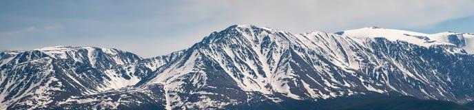 Bergpanorama, de noorden-Chuya rand, de Altai-Republiek royalty-vrije stock foto