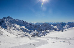 Bergpanorama in den Stubai-Alpen Lizenzfreie Stockbilder