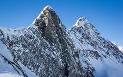 Bergpanorama in den Stubai-Alpen Lizenzfreies Stockbild