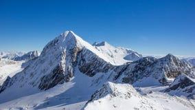 Bergpanorama in den Stubai-Alpen Stockbild
