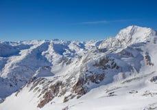 Bergpanorama in den Stubai-Alpen Stockfotos