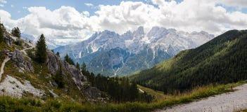 Bergpanorama - Dolomiti, Italië Stock Fotografie