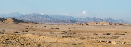 Bergpanorama in Ras Mohamed, Ägypten, Süd-Sinai Stockfotografie