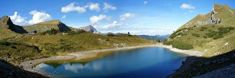 Bergpanorama in Tirol, Oostenrijk Royalty-vrije Stock Foto
