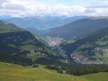 Bergpanorama Val Gardena Stockfotos