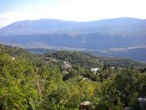 Bergpanorama wiew vom abowe stockbild