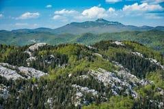 Bergpanoramaansicht, Grobnik Alpe, Kroatien stockfoto