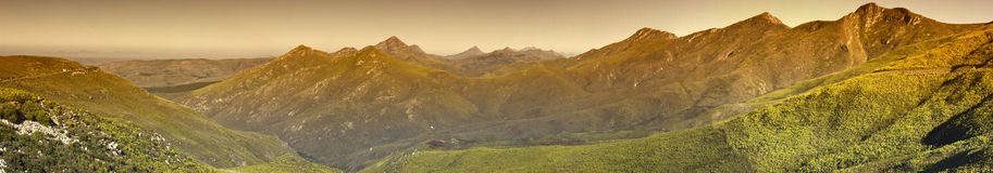 bergpanoramaområde Fotografering för Bildbyråer