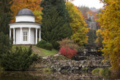 Bergpark wilhelmshoehe kassel germany in the autumn. The bergpark wilhelmshoehe kassel germany in the autumn Stock Image
