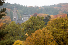 Bergpark wilhelmshoehe kassel germany in the autumn. The bergpark wilhelmshoehe kassel germany in the autumn Royalty Free Stock Images