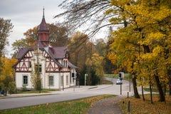 Bergpark wilhelmshoehe kassel germany in the autumn Stock Photography