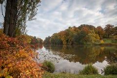 Bergpark wilhelmshoehe kassel germany in the autumn Royalty Free Stock Image