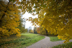Bergpark wilhelmshoehe kassel germany in the autumn. The bergpark wilhelmshoehe kassel germany in the autumn Stock Photos