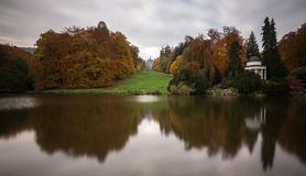 Bergpark wilhelmshoehe kassel germany in the autumn. The bergpark wilhelmshoehe kassel germany in the autumn Stock Photography