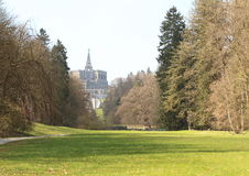 Bergpark Wilhelmshohe, Germany. Bergpark Wilhelmshohe, with Hercules statue in background. It is a unique landscape park in Kassel, Germany. The area of the park Stock Image