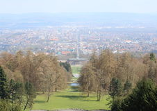 Bergpark Wilhelmshohe, Germany. View of Kassel, Germany from the Bergpark Wilhelmshohe, a unique landscape park located at the hill. The area of the park is 2.4 Royalty Free Stock Photography