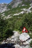 bergpasserande Arkivfoto