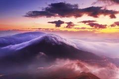 bergphoenix soluppgång Royaltyfri Fotografi