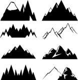 Bergpictogrammen voor u ontwerp worden geplaatst dat Stock Afbeeldingen