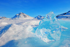 Bergpieken in Groenland royalty-vrije stock afbeelding