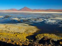 Bergpieken in Laguna Colorada in Bolivië Royalty-vrije Stock Fotografie