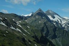 Bergpieken van de Alpen Royalty-vrije Stock Afbeeldingen