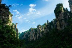 Bergpieken in Zhangjiajie, China Royalty-vrije Stock Fotografie