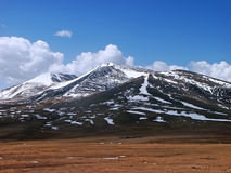 bergplatåsnow Royaltyfri Fotografi