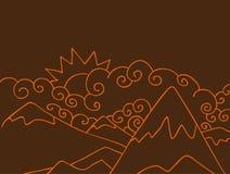 bergplats Arkivbilder