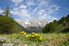 bergplats Arkivfoto