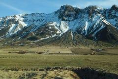 Bergplats i Island Fotografering för Bildbyråer