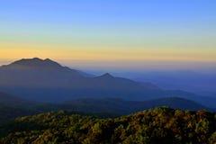 Bergplats i nord av Thailand Royaltyfri Bild