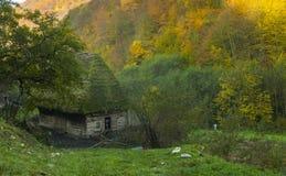 Bergplattelandshuisje Stock Afbeelding
