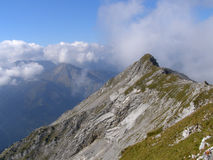 Bergrand in Beierse Alpen Stock Afbeeldingen