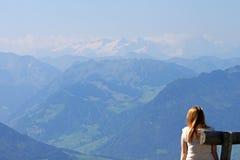 bergrigiswitzerland sikt Royaltyfria Bilder