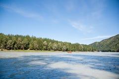Bergrivier Rafting Royalty-vrije Stock Foto