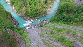 Bergs flodkanjon lager videofilmer