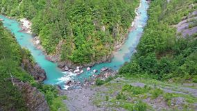 Bergs flodkanjon stock video