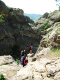 bergsbestigning Royaltyfria Foton
