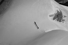 bergsbestigning Arkivbilder