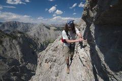 bergsbestigning arkivfoton