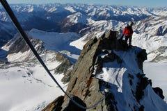 bergsbestigning Fotografering för Bildbyråer