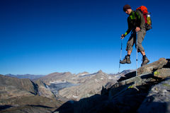 bergsbestigning Arkivbild